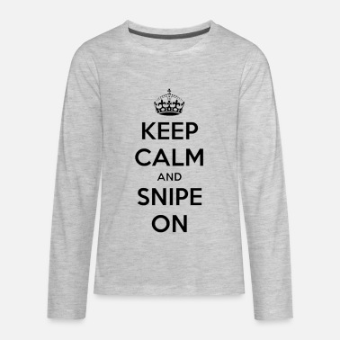 Sniper keep calm and snipe on - Kids' Premium Longsleeve Shirt