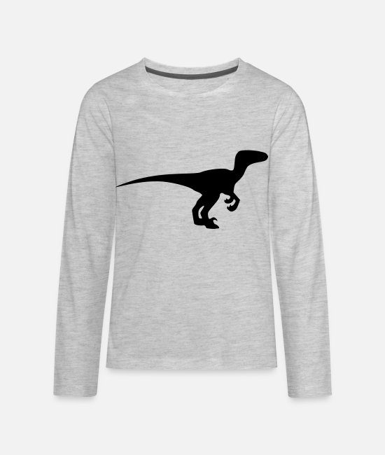 Jurassic Long-Sleeved Shirts - Velociraptor - Kids' Premium Longsleeve Shirt heather gray