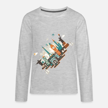 Inclined Tower A series of works everywhere I will - Kids' Premium Longsleeve Shirt