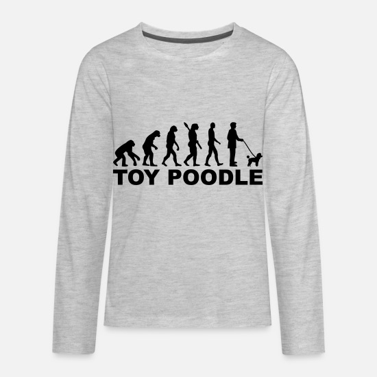 Poodle Long-Sleeve Shirts - Toy Poodle - Kids' Premium Longsleeve Shirt heather gray