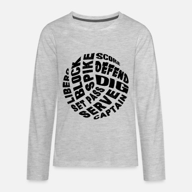 Things About Volleyball Shirt - Kids' Premium Long Sleeve T-Shirt