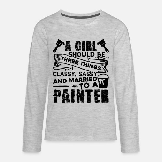Painter T-Shirts - Painter - Kids' Premium Longsleeve Shirt heather gray