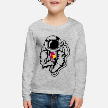 An astronaut with an ice cream cone - Kids' Premium Longsleeve Shirt