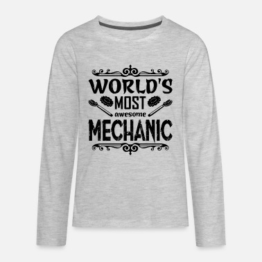 World's Most Awesome Mechanic Shirt - Kids' Premium Longsleeve Shirt