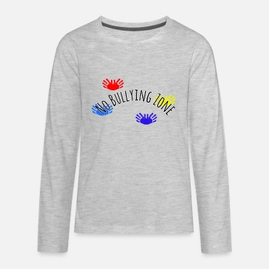 Child Hand Print No Bullying Zone (Hand Prints) - Kids' Premium Long Sleeve T-Shirt