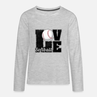 Softball Softball Player Fan Lover Sports Gift - Kids' Premium Longsleeve Shirt