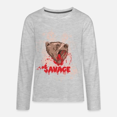 Rampage Rampaging Bear Savage - Kids' Premium Longsleeve Shirt