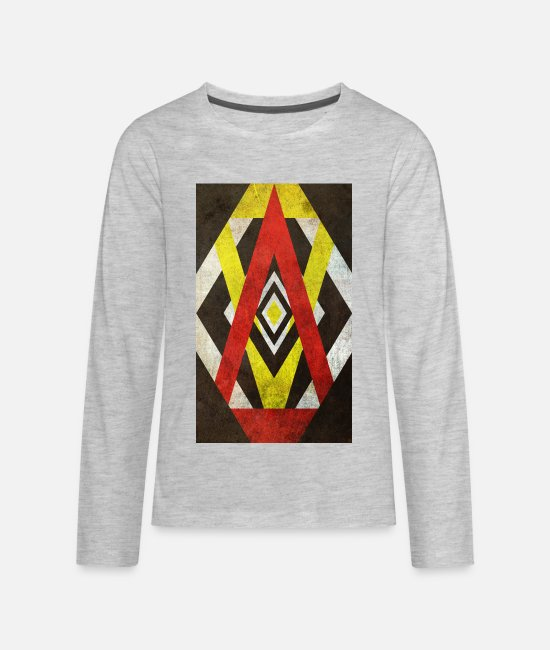 Art Long-Sleeved Shirts - Art - Sharp Edges - Kids' Premium Longsleeve Shirt heather gray