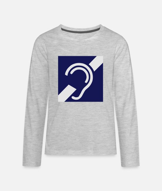 Language Long-Sleeved Shirts - International Symbol for Deafness - Kids' Premium Longsleeve Shirt heather gray