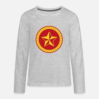 Russian Circles Circle Communist Red Star - Kids' Premium Longsleeve Shirt