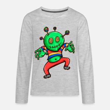 Candy voodoo dolls monster streetwear vector image - Kids' Premium Long Sleeve T-Shirt