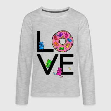 Love Donuts & Gummy Bears - Kids' Premium Long Sleeve T-Shirt