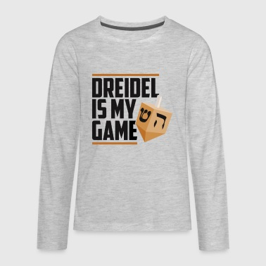 Dreidel Is My Game Jewish Winter Hanukkah Holiday - Kids' Premium Long Sleeve T-Shirt