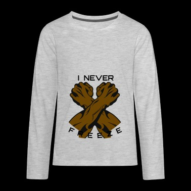 NEVER FREEZE BLACK PANTHER SHIRT - Kids' Premium Long Sleeve T-Shirt