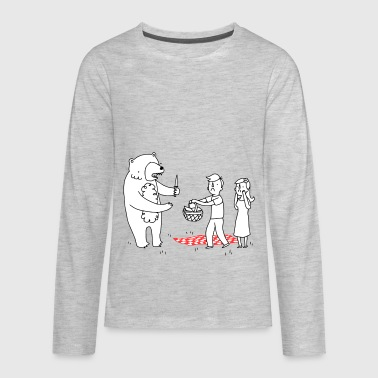 bears picnic - Kids' Premium Long Sleeve T-Shirt