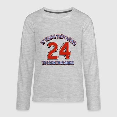 24th birthday designs - Kids' Premium Long Sleeve T-Shirt