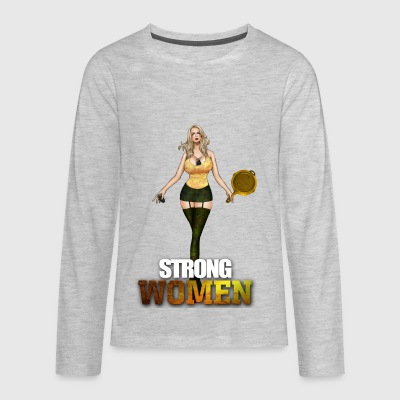 Strong Women metoo - Kids' Premium Long Sleeve T-Shirt