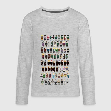 Naruto Pixels - Kids' Premium Long Sleeve T-Shirt