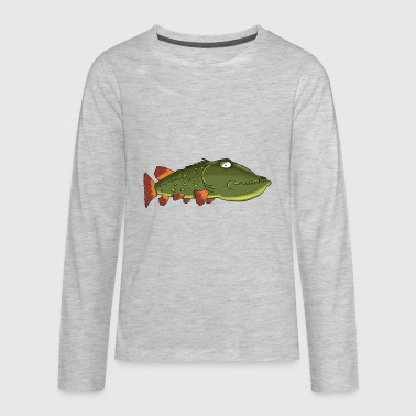 fish fisch meer see sea ocean lake - Kids' Premium Long Sleeve T-Shirt