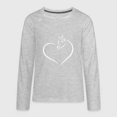 HEART HORSE - Kids' Premium Long Sleeve T-Shirt