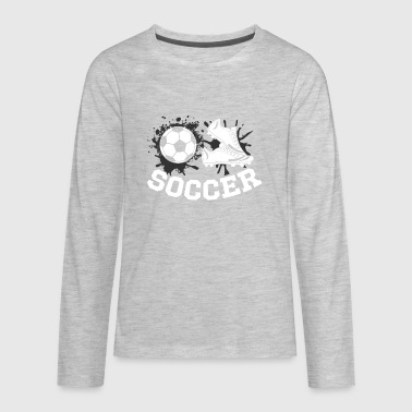 Soccer football Design Products - Kids' Premium Long Sleeve T-Shirt