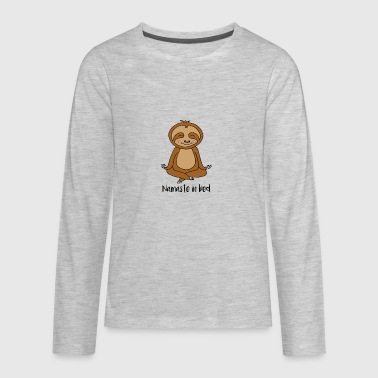 Namaste In Bed Sloth - Kids' Premium Long Sleeve T-Shirt