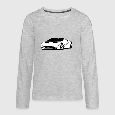 White_sport_car - Kids' Premium Long Sleeve T-Shirt