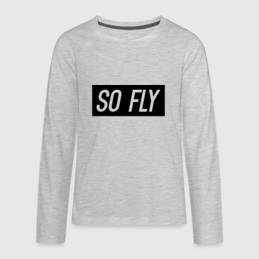 So Fly logo design - Kids' Premium Long Sleeve T-Shirt