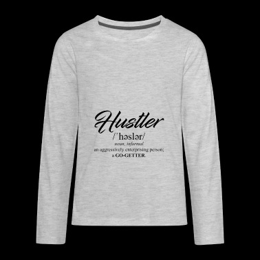Hustler - Kids' Premium Long Sleeve T-Shirt