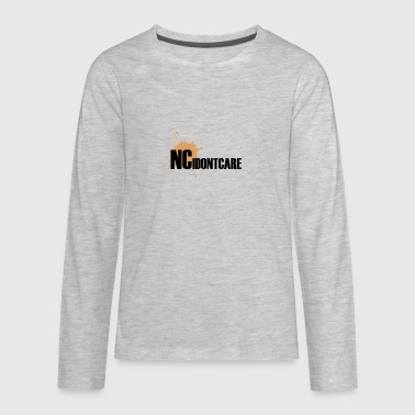 NC IDONTCARE - Kids' Premium Long Sleeve T-Shirt