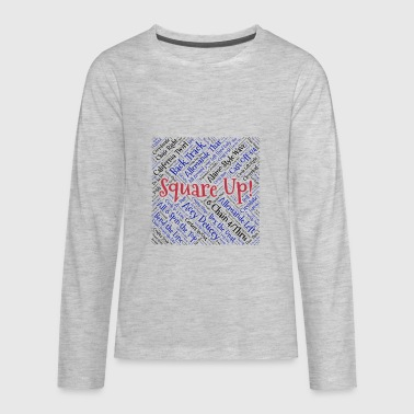 Square Up - Kids' Premium Long Sleeve T-Shirt