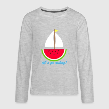 Watermelon Boat - Kids' Premium Long Sleeve T-Shirt