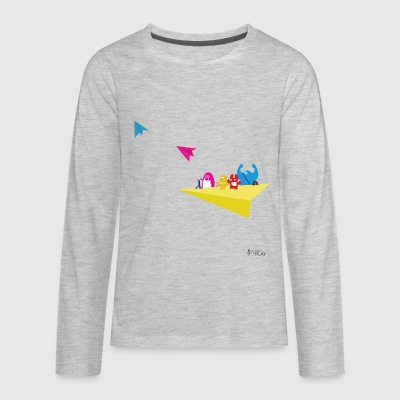 Monster Airplane Ride - Kids' Premium Long Sleeve T-Shirt