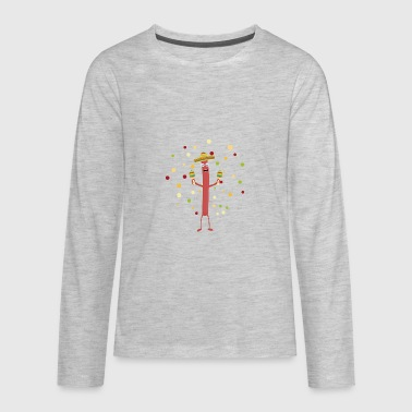 Fiesta Party Mexico Sausage - Kids' Premium Long Sleeve T-Shirt