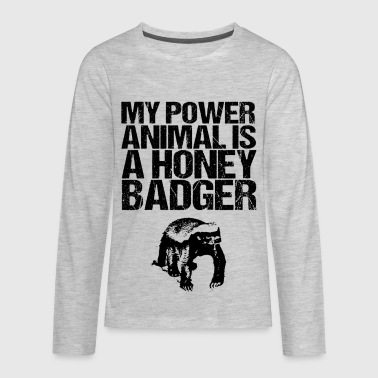 My Power Animal is a HB - Kids' Premium Long Sleeve T-Shirt