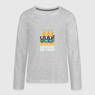 Sixpack Beer on Tour Sn1pu - Kids' Premium Long Sleeve T-Shirt