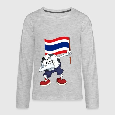 Thailand Dabbing Soccer Ball - Kids' Premium Long Sleeve T-Shirt