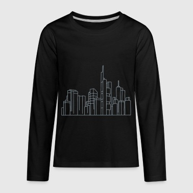 Skyline of Frankfurt - Kids' Premium Long Sleeve T-Shirt