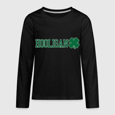 Ireland Eire hooligan shamrock - Kids' Premium Long Sleeve T-Shirt
