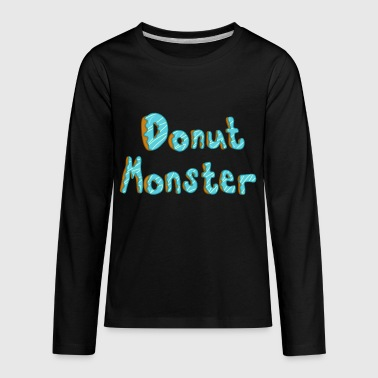 Donut Monster Donut Monster - Kids' Premium Long Sleeve T-Shirt