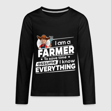Proud Farmer - To Save Time - Kids' Premium Long Sleeve T-Shirt