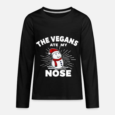 Christmas Vegan - The Vegans ate my nose - Kids' Premium Long Sleeve T-Shirt