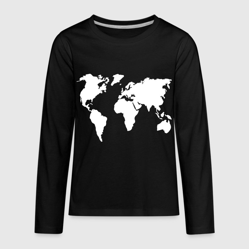 Worldmap Travel 1c - Kids' Premium Long Sleeve T-Shirt