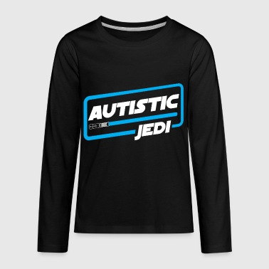 Jedi Dad AUTISM AWARENESS SHIRT FOR KIDS - AUTISTIC JEDI - Kids' Premium Long Sleeve T-Shirt