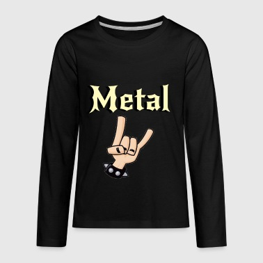 Metal Music Shirt - Gift For Metal Music Lovers - Kids' Premium Long Sleeve T-Shirt