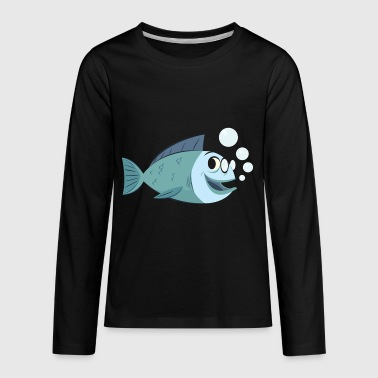 fish cartoon - Kids' Premium Long Sleeve T-Shirt