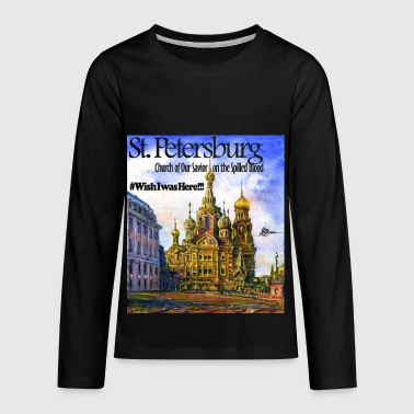 St. Petersburg Russia Church of Our Savior on the Spilled Blood - Kids' Premium Long Sleeve T-Shirt