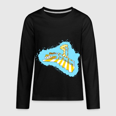 Stairs Sliders - Kids' Premium Long Sleeve T-Shirt