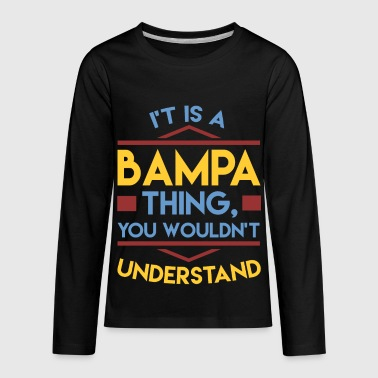 bampa 1a.png - Kids' Premium Long Sleeve T-Shirt
