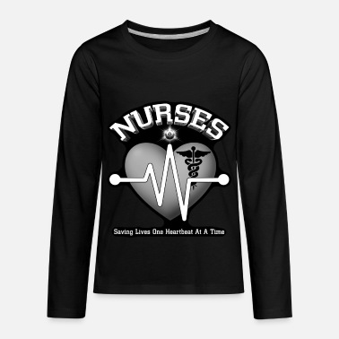 Registered Nurse Nurses Saving Lives - Kids' Premium Long Sleeve T-Shirt
